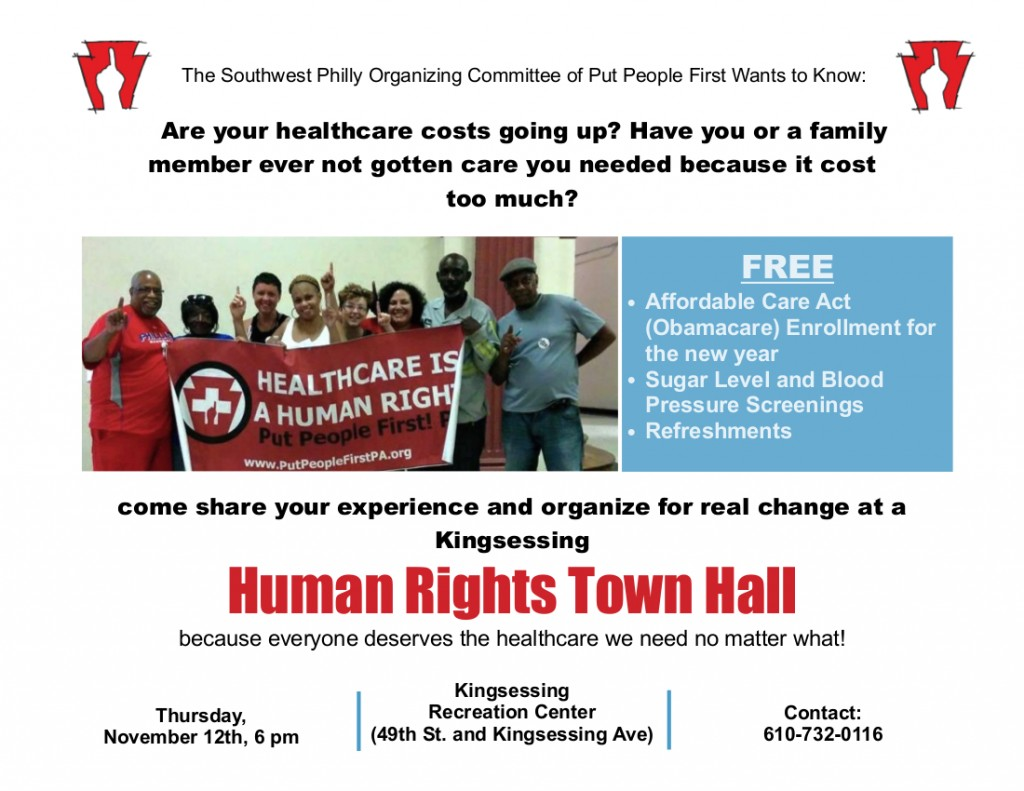 Kingsessing Human Rights Town Hall New