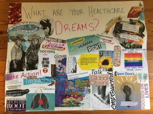 thanks to Queer Philly Brunch for this healthcare dreams collage!