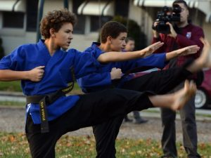 halloween-karate-demo
