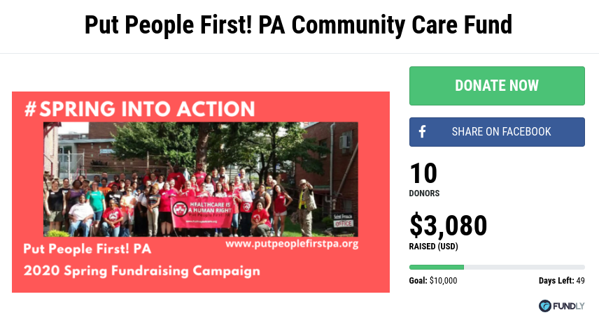 Image of PPF-PA's Community Care Fund Fundly page